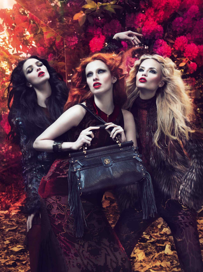 Natasha Poly, Mariacarla Boscono and Karen Elson were wicked beauties in the fall campaign from Roberto Cavalli. / Photo by Mert &#038; Marcus