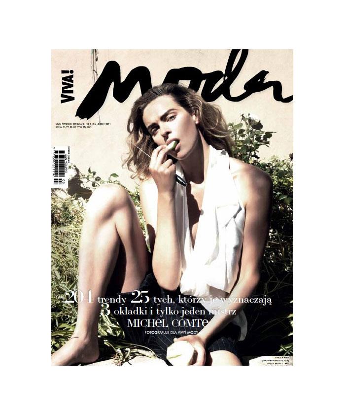 <em>Viva! Moda</em> Fall 2011 Cover | Magdalena Frackowiak, Tasha Tilberg & Elise Crombez by Michel Comte