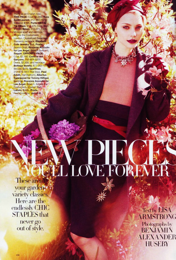 stamhb1 Jessica Stam in 'New Pieces You'll Love Forever' by Benjamin Alexander Huseby