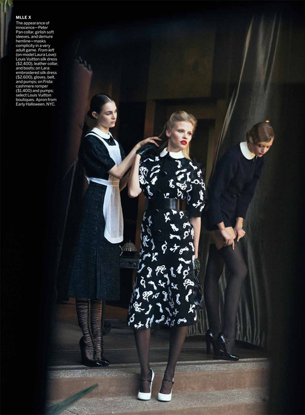 SpellBound 4a Lara Stone &amp; Frida Gustavsson by Peter Lindbergh for <i>Vogue US</i> July 2011