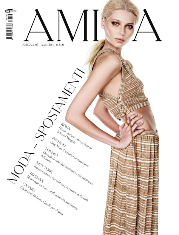 amica <em>Amica</em> July 2011 Cover | Vika Falileeva by Nadir