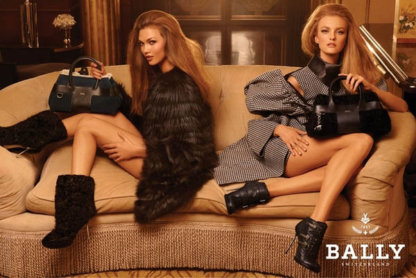 bally Bally Fall 2011 Campaign Preview | Karlie & Caroline by Steven Meisel