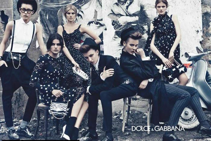 dolce1 Dolce & Gabbana Fall 2011 Campaign Preview | Isabeli Fontana, Liu Wen, Maryna Linchuk, Constance Jablonski, Jac Jagaciak & Kate King by Steven Klein