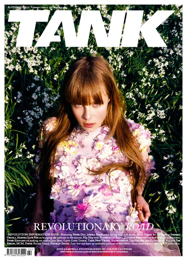 ediecover <em>Tank</em> Summer 2011 Cover | Edie Campbell by Viktor Vauthier