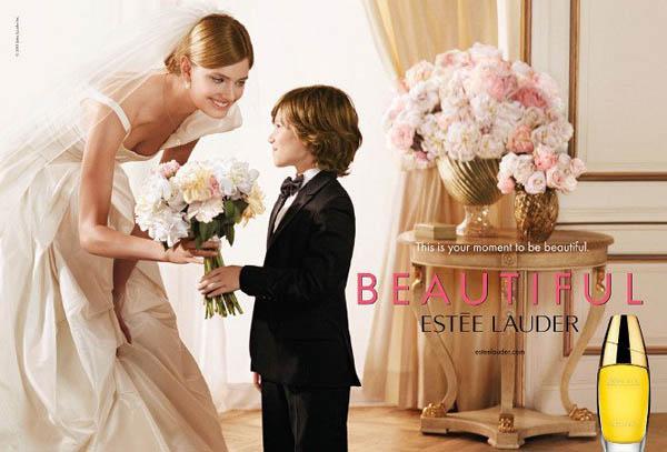 el Estée Lauder Beautiful Fragrance Campaign | Constance Jablonski by Peter Lindbergh