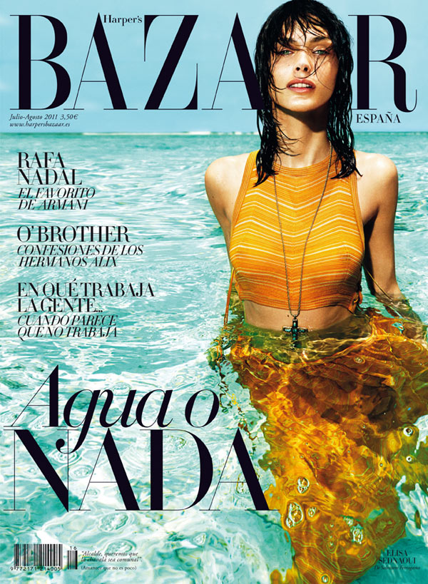 elisacover Elisa Sednaoui in Salvatore Ferragamo for <em>Harpers Bazaar Spain</em> July/August 2011 (Cover)