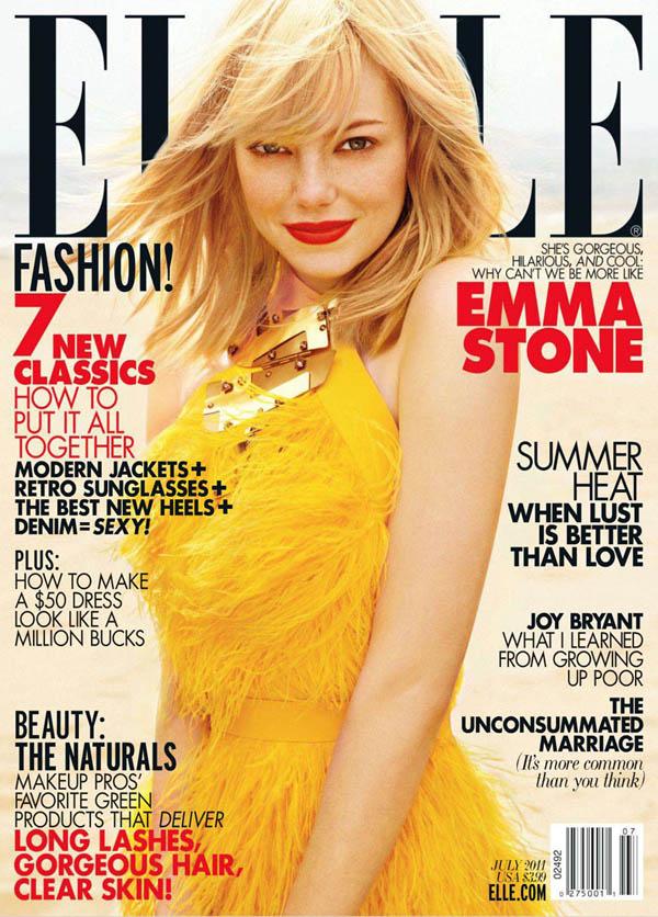 emmacover0 <em>Elle US</em> July 2011 Cover | Emma Stone by Carter Smith