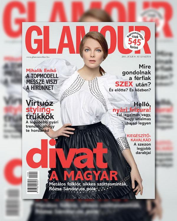 enikocover <em>Glamour Hungary</em> July/August 2011 Cover | Eniko Mihalik by Marcel Gonzalez Ortiz
