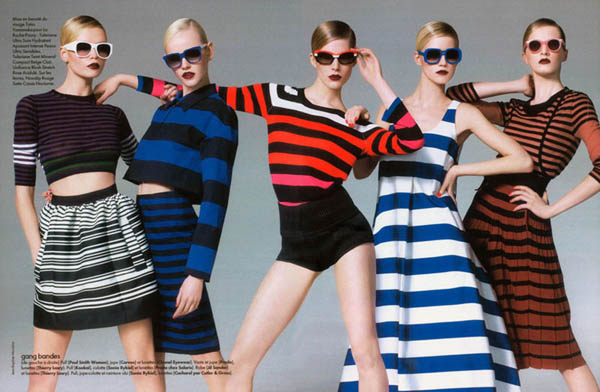 five Natasha Poly, Iselin Steiro & Others by Jean Baptiste Mondino for <em>Elle France</em>