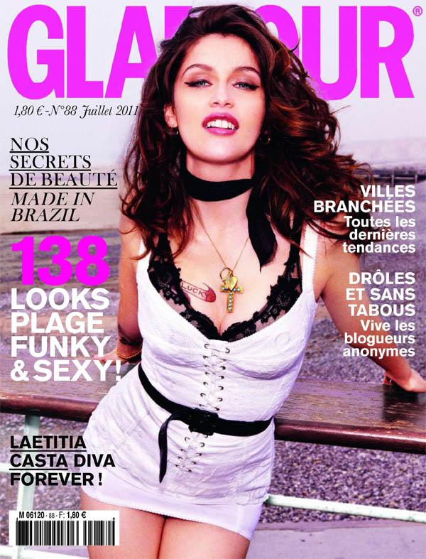 laetitiacover <em>Glamour France</em> July 2011 Cover | Laetitia Casta by Ellen von Unwerth