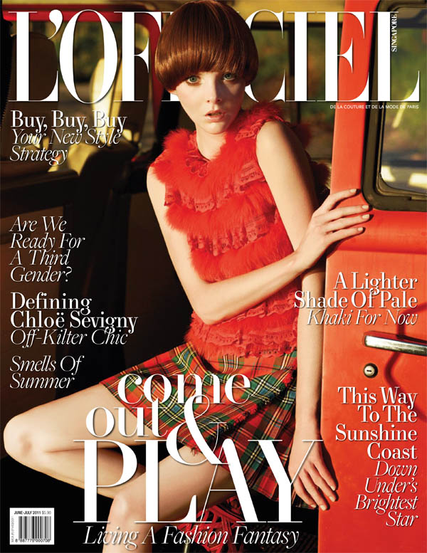 lofcover <em>LOfficiel Singapore</em> June/July 2011 Cover | Emily Wake by Wee Khim
