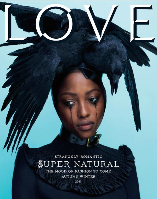 lovecover <em>LOVE</em> #6 Fall/Winter 2011 Cover | Nyasha Matonhodze by Mert & Marcus