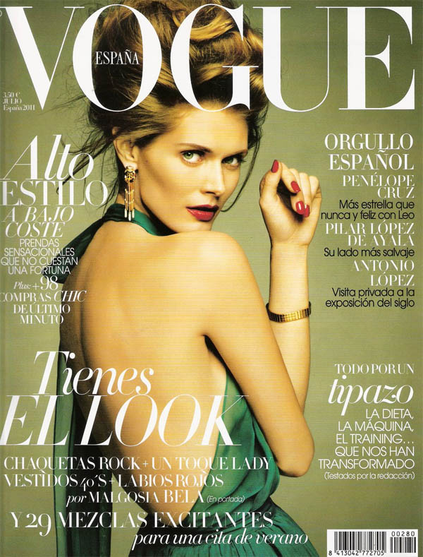 malgosiacover <em>Vogue Spain</em> July 2011 Cover | Malgosia Bela by Greg Kadel