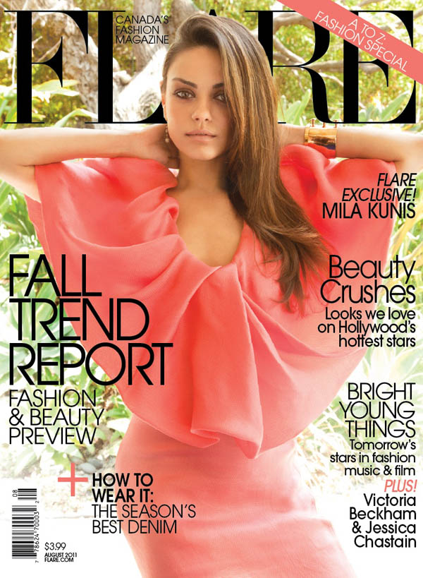 mila1 Mila Kunis in Lanvin for <em>FLAREs</em> August 2011 Cover