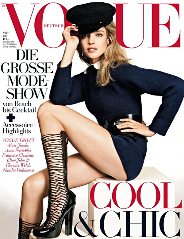 nataliacover Natalia Vodianova in Louis Vuitton for <em>Vogue Germany</em> July 2011 (Cover)