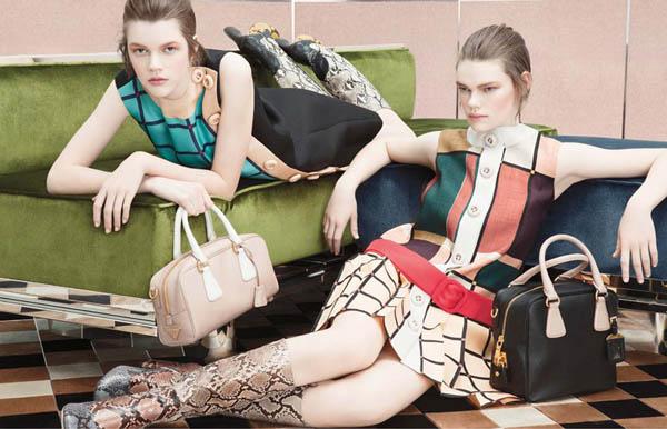 prada Prada Fall 2011 Campaign Preview | Frida Gustavsson, Kelly Mittendorf & Ondria Hardin by Steven Meisel
