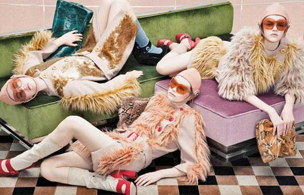 pradacampaign Prada Fall 2011 Campaign | Frida Gustavsson, Kelly Mittendorf, Julia Zimmer & Others by Steven Meisel