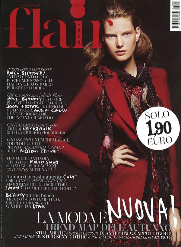 ylonkacover <em>Flair</em> July 2011 Cover | Ylonka Verheul by Emilio Tini