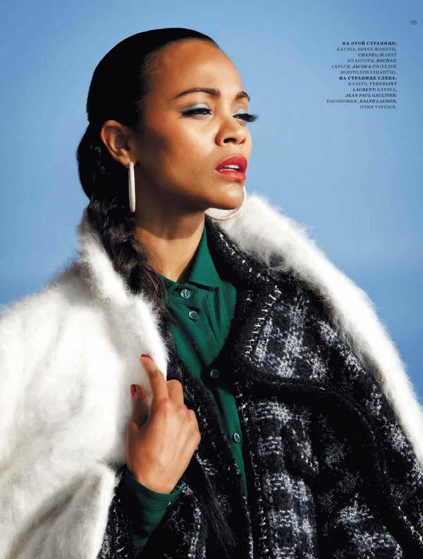 zoe saldana Zoe Saldana for <em>Harpers Bazaar Russia</em> July/August 2011 by Bleacher & Everard