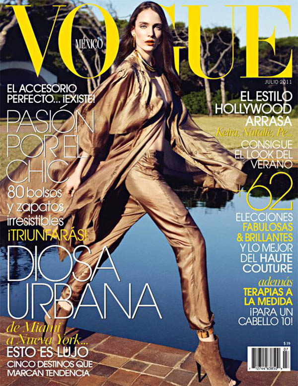 zuzannacover <em>Vogue Mexico</em> July 2011 Cover | Zuzanna Bijoch by Marcin Tyszka