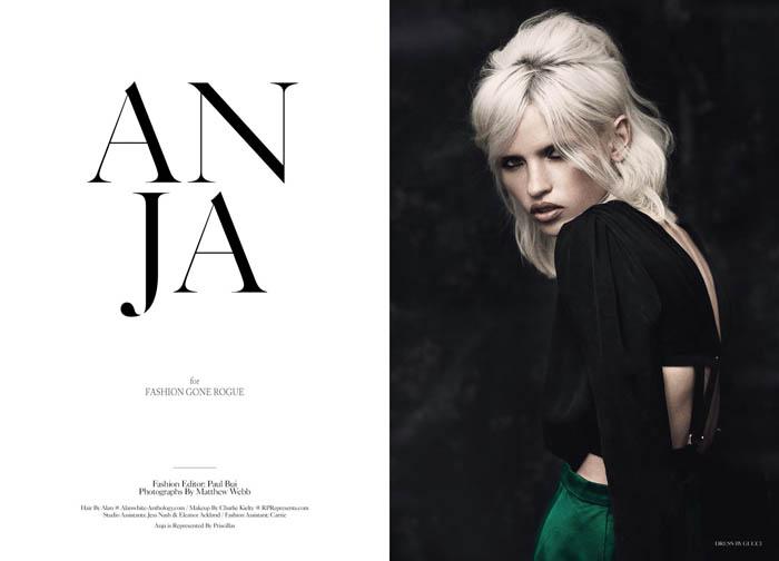 anja Anja Konstantinova by Matthew Webb for <em>Fashion Gone Rogue</em>