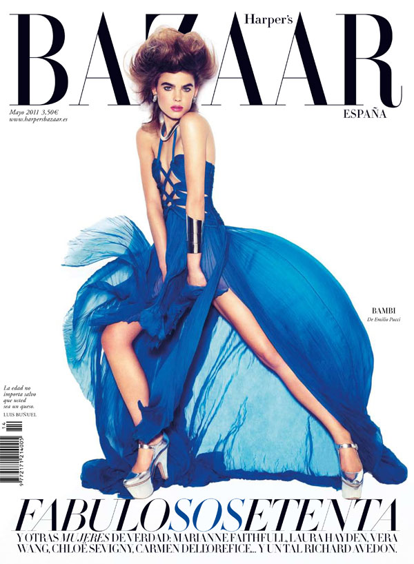 bambicover Bambi Northwood Blyth for <em>Harpers Bazaar Spain</em> May 2011 (Cover)