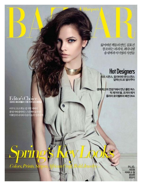 barbaracover <em>Harpers Bazaar Korea</em> April 2011 Cover | Barbara Palvin by Rama