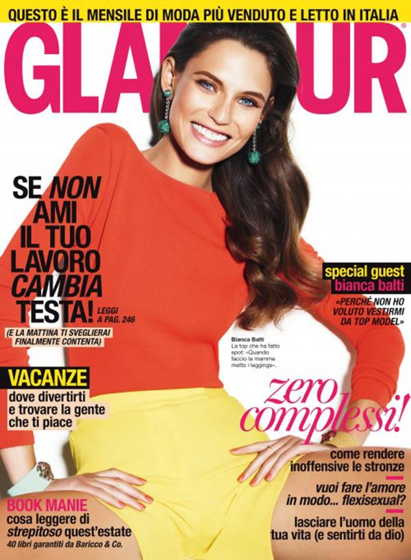 biancacover <em>Glamour Italia</em> June 2011 Cover | Bianca Balti by Giampaolo Sgura