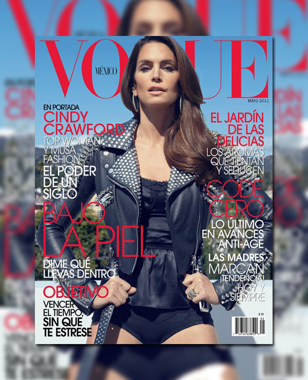 cindycover <em>Vogue Mexico</em> May 2011 Cover | Cindy Crawford by Tesh