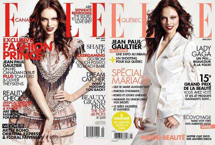 cococover Coco Rocha for <em>Elle Canada</em> & <em>Elle Quebec</em> May 2011 (Covers)