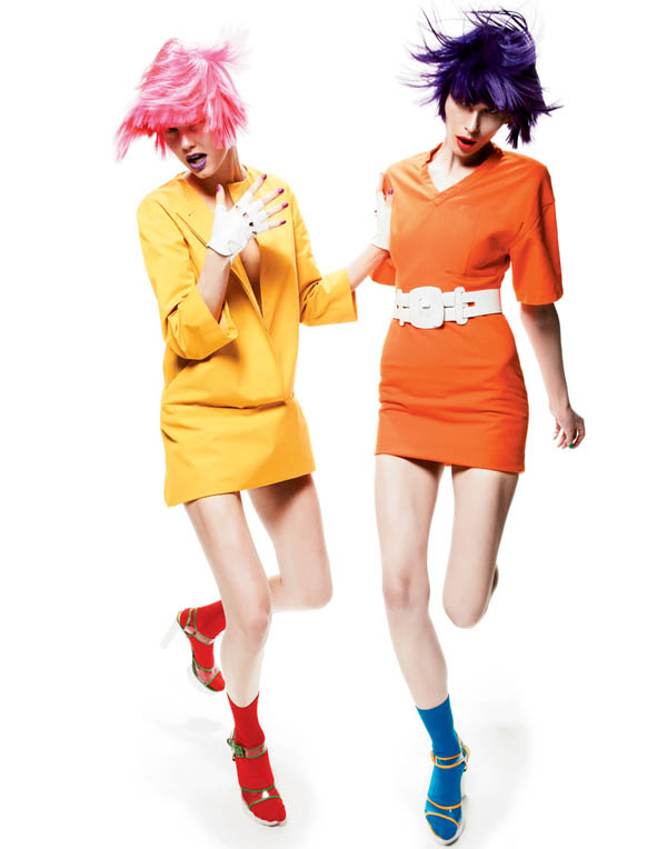 color Merethe Hopland & Monika Sawicka by Gregory Harris for <em>Interview</em> May 2011