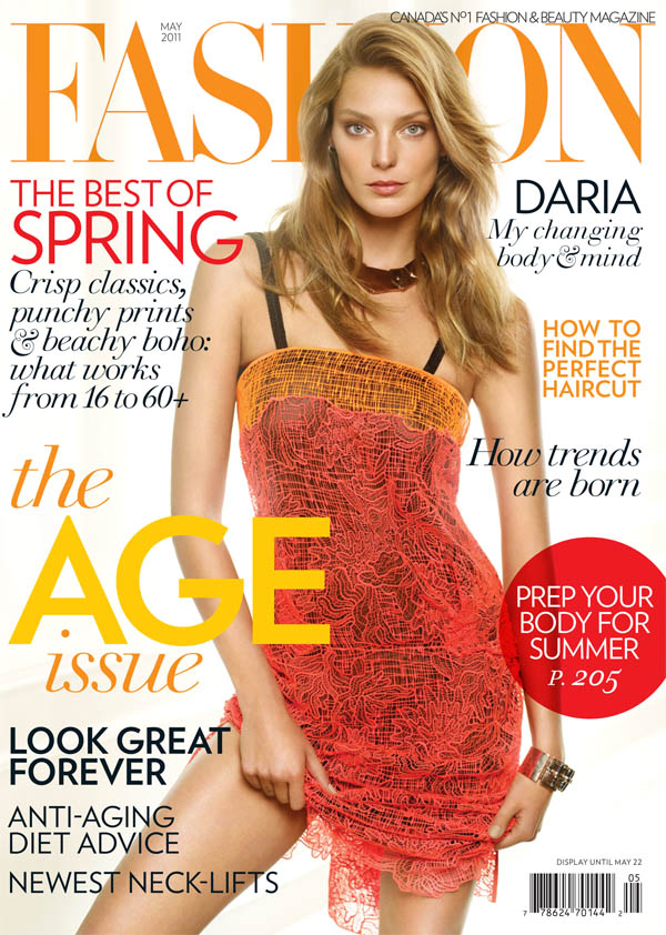 dariacover <em>FASHION</em> May 2011 Cover | Daria Werbowy by Alex Cayley