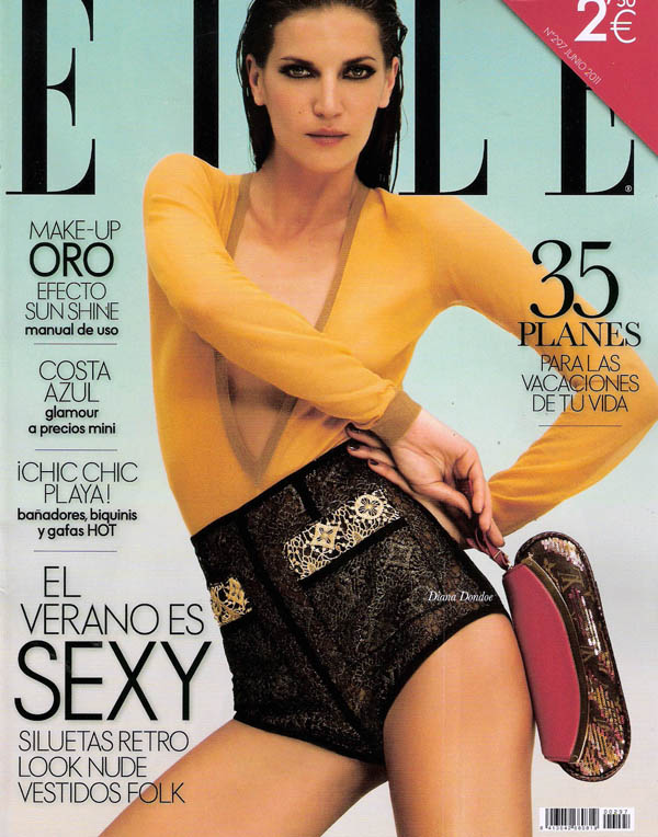 dianacover <em>Elle Spain</em> June 2011 Cover | Diana Dondoe by Santiago Esteban