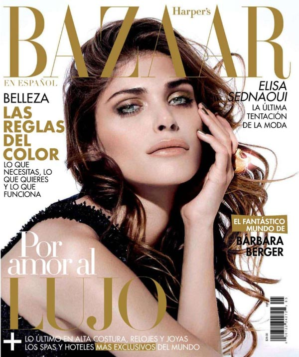 elisacover <em>Harpers Bazaar Mexico</em> May 2011 Cover | Elisa Sednaoui by Papo