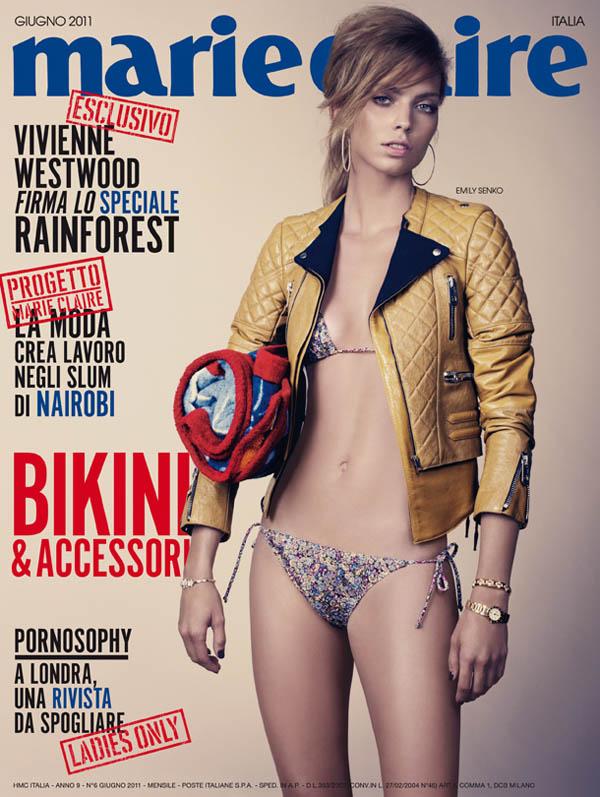 emilycover <em>Marie Claire Italia</em> June 2011 Cover | Emily Senko by David Slijper