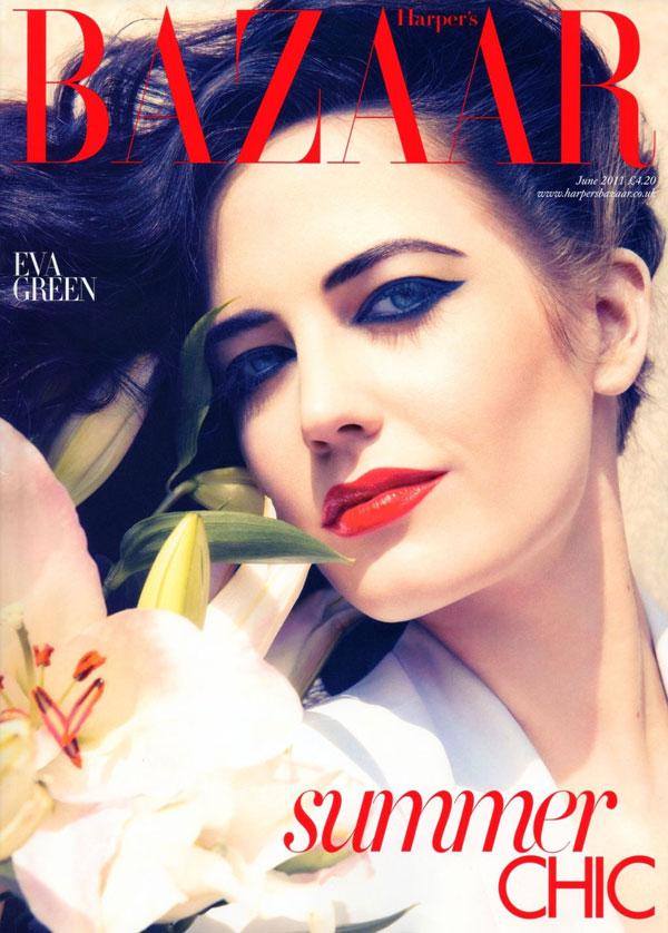 evacover <em>Harpers Bazaar UK</em> June 2011 Cover | Eva Green by Camilla Akrans