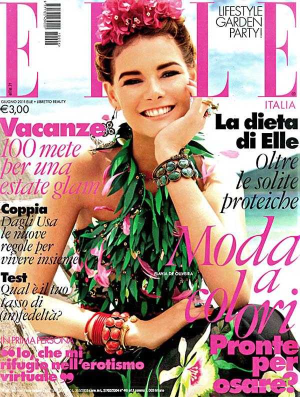flaviacover <em>Elle Italia</em> June 2011 Cover | Flavia de Oliveira by Marcelo Krasilcic