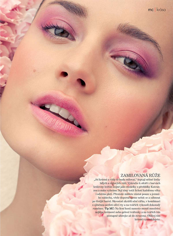 flower Chloe Laslier by Jeff Tse for <em>Marie Claire Czech</em> May 2011