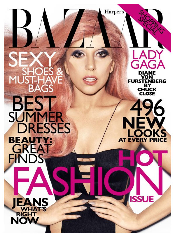 gagacover <em>Harpers Bazaar US</em> May 2011 Cover | Lady Gaga by Terry Richardson