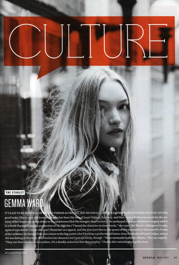 gemmak Snap! | Gemma Ward by Peter Ash Lee for <em>Details</em>