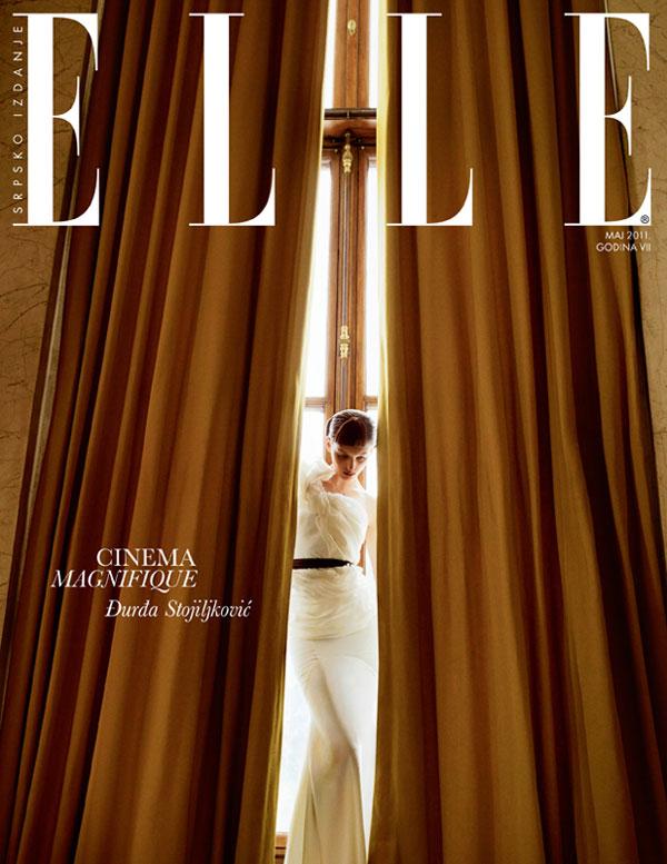 georginacover1 <em>Elle Serbia</em> May 2011 Cover | Georgina Stojiljkovic by Andrea Klarin