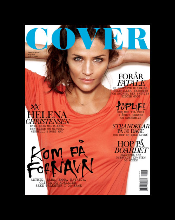 helenacover0 <em>Cover Magazine</em> May 2011 Cover | Helena Christensen by Rasmus Skousen