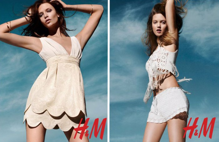 hmcon Natasha Poly & Lindsey Wixson for H&M Conscious Campaign by Solve Sundsbo