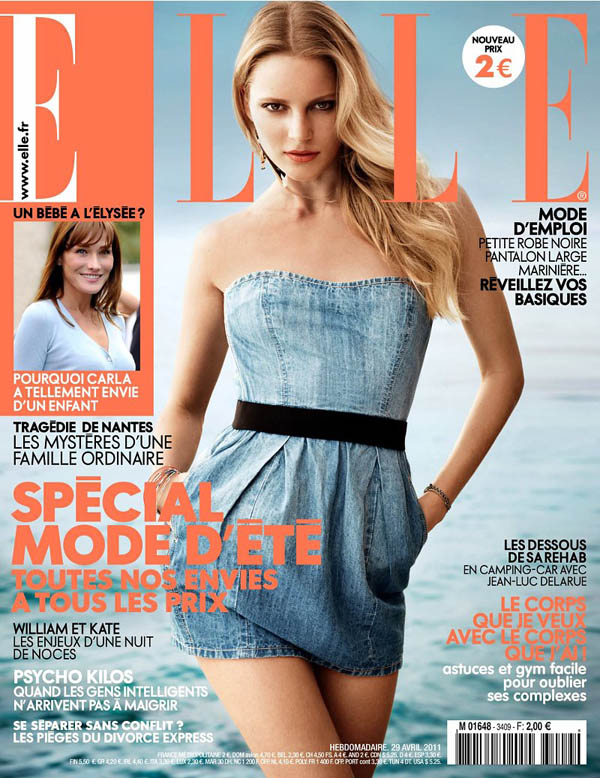 ievacover <em>Elle France</em> April 2011 Cover | Ieva Laguna by Takay