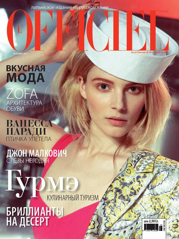 ievacover0 <em>LOfficiel Latvia</em> May 2011 Cover | Ieva Laguna by Oleg Zernov