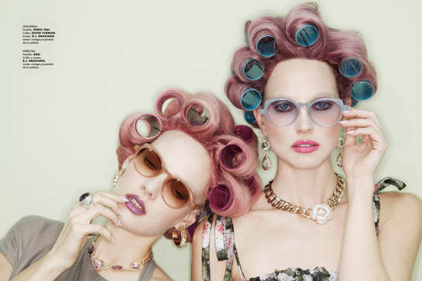 Tehila & Ania by Jamie Nelson for <em>Elle Mexico</em> June 2011
