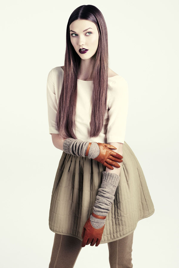 karlie hm14 Karlie Kloss for H&M Fall 2011 Lookbook