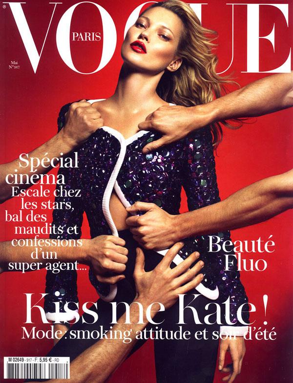 katecoverp <em>Vogue Paris</em> May 2011 Cover | Kate Moss by Mert & Marcus
