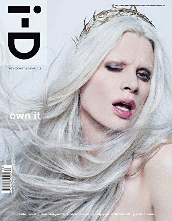 kcover <em>i D</em> Summer 2011 Cover | Kristen McMenamy by Josh Olins