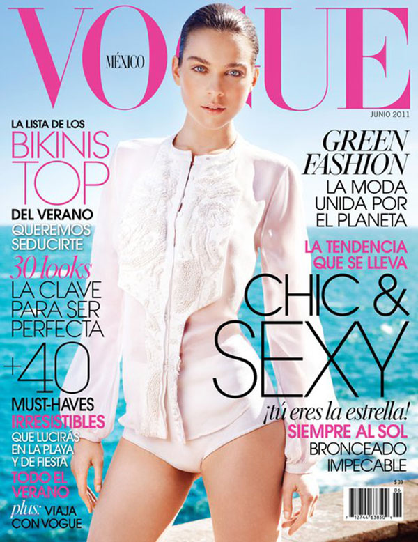 kimcover Kim Noorda for <em>Vogue Mexico</em> June 2011 (Cover)